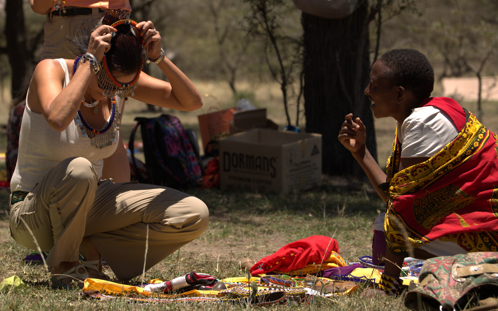 Tourism soko (market) Naboisho communities - beadwork