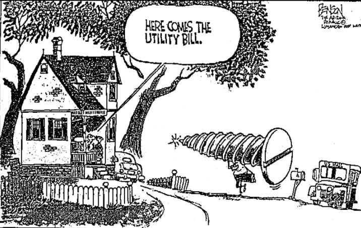 Utility bill cartoon